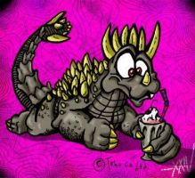 Anguirus-  Strawberry Smoothie by YaginoBaka