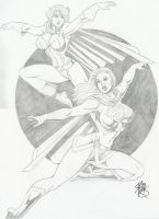 PowerGirl and Supergirl by Robb Phipps by zefly88