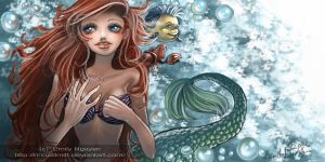 Ariel and Friends--L. Mermaid by emilynguyenart