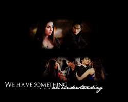 We have something.Damon+Elena by Bellezza-di-Acqua
