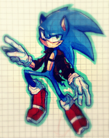 school doodles: sonic the hedgehod COLORED by tuna-saur