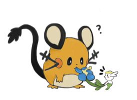 Dedenne and Flabebe by notabondvillain