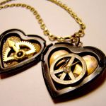 Time for Peace Heart Locket by SteamSociety