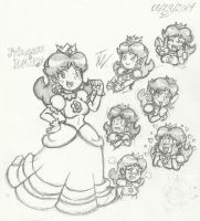 Princess Daisy Sketches by SuperGon-64