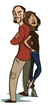 Hubs and I by pixarjunkie