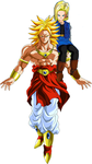 Broly and 18 by Kyphael