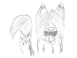 The Creepy Wolf forms by Thunderjix