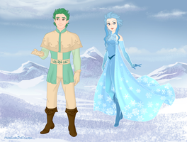 Frozen-PKMN - Anna's Leafeon and Elsa's Glaceon... by JackFrostOverland