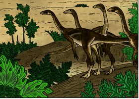 Cretaceous Scene, Preview by flufdrax