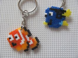 Nemo and Dory bead sprite by TOPGUN4