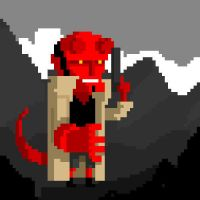 Hellboy on pixel by peerro