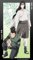 Shikamaru and Neji by gabi-s