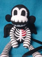 Winged Skeleton Sock Monkey by REBELalaMODE