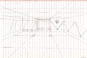 System shock science level entrance WIP by Schluberlubs