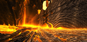 Inside the Cathedral flames by KPEKEP