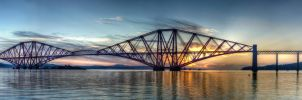 Forth Rail Bridge - Panorama by Spyder-art