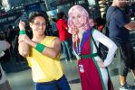 New York Comic Con 2015 - Yusuke and Young Genkai by VideoGameStupid