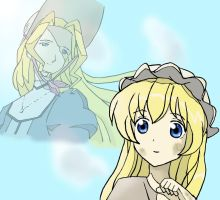 Cosette and Fantine by Naouki
