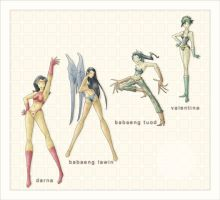 Darna... And The Models by blue-fusion