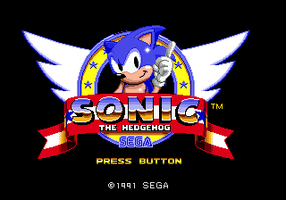 Sonic 1 (Mega-Drive) 8-Bit Styled titlescreen by OMGWEEGEE2