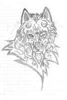 tribal wolf by Benhur1994