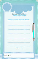 Blue Stationary Journal Skin by Llendowyn
