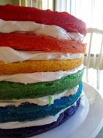 Rainbow Cake Layers by PnJLover