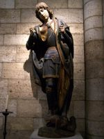Cloisters statue by corrupt-prodigy