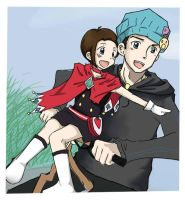 Nick and Trucy by artemis-elric