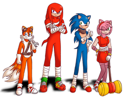 Sonic and Friends (Sonic Boom Style) by Animeartist569