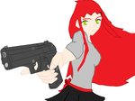 rose with death pistol by REDrosesutcliff17