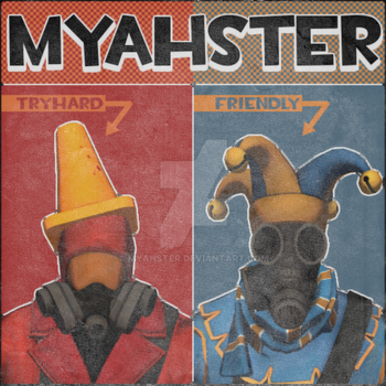 Myahster - Pyro Poster by d3skinner