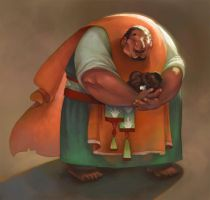 St. Joseph and The Little Lamb by fabiolagarza