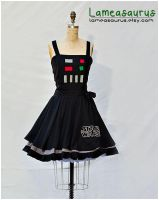 Darth Vader retro style dress Star Wars by Lameasaurus-etsy
