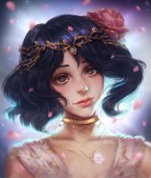 Flower princess (portrait commission) by renaillusion