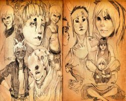 the cover pages for alice book-front and back by Rosco12