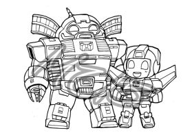 Superdeformers: Omega Supreme and Skyfire by MZ15