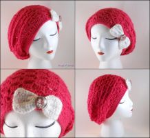 Bright Pink Slouchy Hat by SailorMiniMuffin