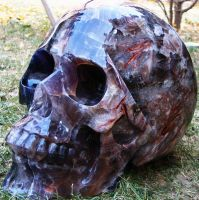 Flourite Crystal Skull 001d by SKULLKRAFT