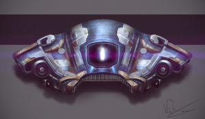 Space Ship Concept by vickgaza