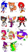 the sanic heroes by Zoiby