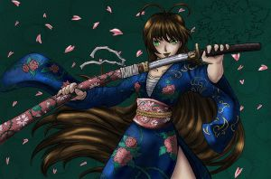 Colored: Samurai Girl by Raenstrife