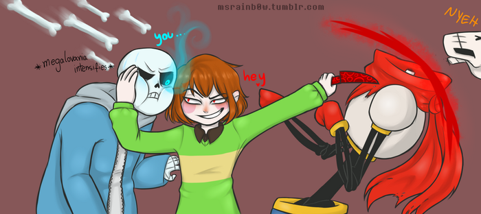 Chara Sans and Papyrus by nandaBeilschmidt
