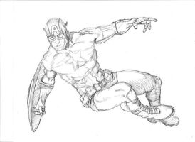 Captain America Sketch by Meador