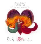 On fire of love by SmilingOfTheHealer