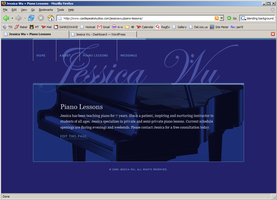 Web site of a Musician by monkeywench