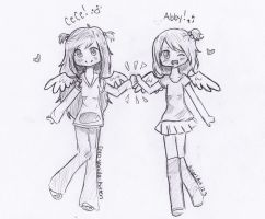 Abby and Cece by AngelArt123