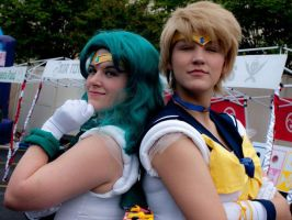 Sailor Neptune and Sailor Uranus by UtterPhailPro