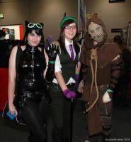 Catwoman, Riddler and Scarecrow by ArcaneArchery