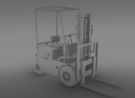 Old rusty forklift by bosman697